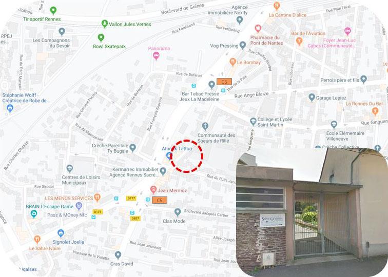 Carte : changement salle du lundi