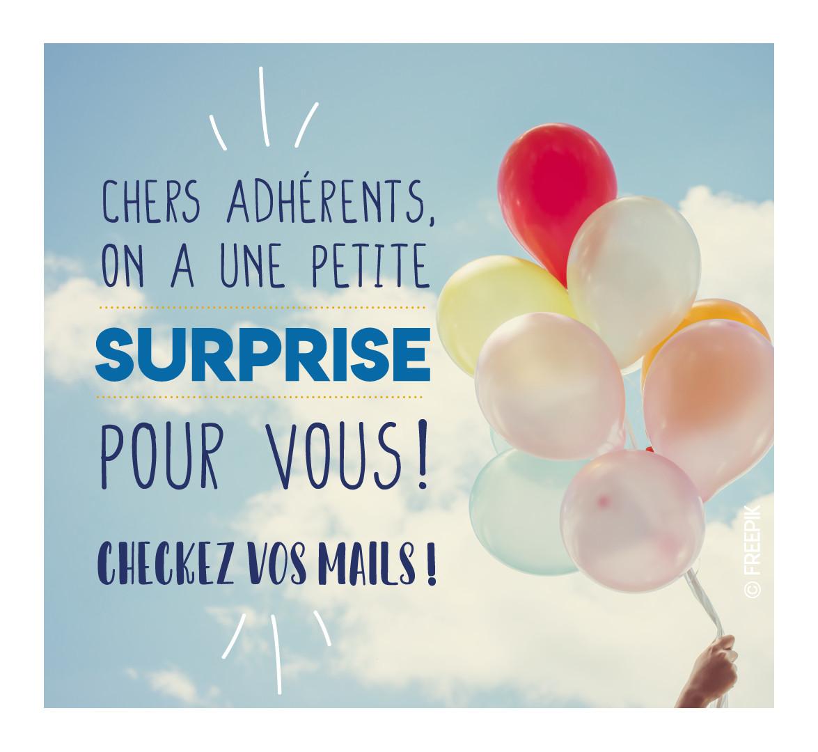 Surprise adhérents