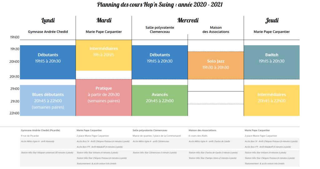 Planning 2020-2021 (avec accès)